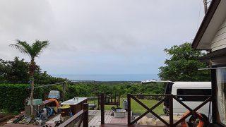 若干雲は多くもあるが青空も見られ暑くもあった7/2の八丈島