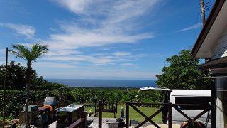 続く青空変わらずで暑さも続いていた7/7の八丈島