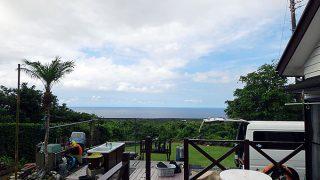 風は弱くて日差しも強く暑さは続いていた7/8の八丈島
