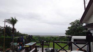 一時晴れ間はあるものの曇り空で蒸し暑さも続いていた7/14の八丈島