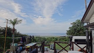 若干雲が出てくるものの爽やかな青空でもあった7/16の八丈島