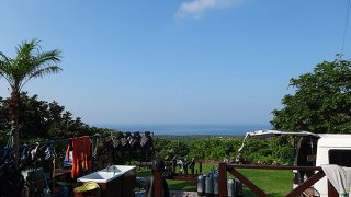 少し雲はでてくるものの青空すっかり夏っぽかった7/19の八丈島