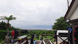 次第に風は強まって季節外れの涼しさとなっていた7/22の八丈島