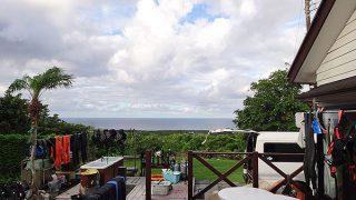 時間ともに雲も増え一時雨も降ってきていた7/24の八丈島
