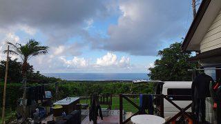 概ね晴れるが所によっては雨も降っていた7/30の八丈島