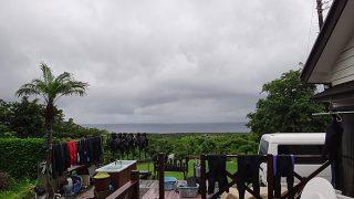 雨は次第に上がってきていて晴れ間も出てきていた8/1の八丈島