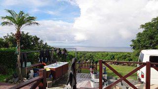 雲が広がるところもあるが海の上は概ね晴れてた8/3の八丈島