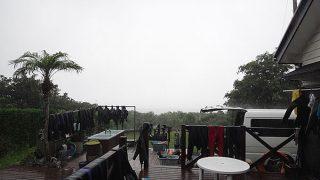豪雨一転青空も広がり暑くなってもいた8/5の八丈島