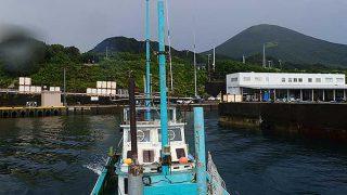 雲は次第に晴れてもきていた八丈島、東側でボートダイビング