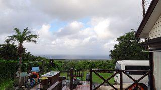 明け方雨は降るものの日中は天気も良くて暑くなっていた8/8の八丈島