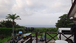 朝夕雲は出てくるものの日中は青空広がっていた8/11の八丈島