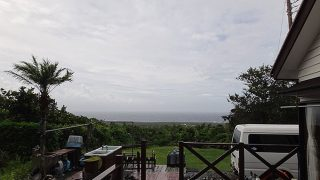 台風通過で荒れた天気も落ち着いてきていた8/22の八丈島
