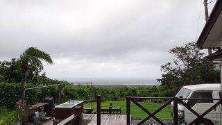 強まる風だが雨はそんなに降ってはこなかった8/29の八丈島