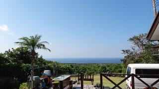 穏やかで日差しも強く日中は暑くなっていた9/1の八丈島