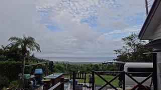 所により雨も降るが日中は青空も広がっていた9/5の八丈島