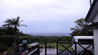 時折雨も降ってはくるが概ね曇りとなっていた9/7の八丈島