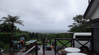 時折降る雨とっても強くもあった9/20の八丈島