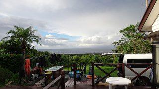 まとまった雨も降り落ち着かない空模様となっていた9/23の八丈島