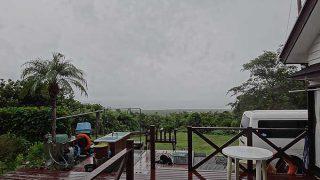 次第に雨足強まってきていた10/3の八丈島