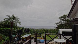 雨は早めに上がって青空も広がっていた10/8の八丈島