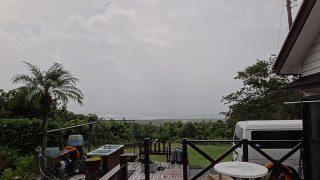 吹く風強く雨も降り涼しくなっていた10/11の八丈島