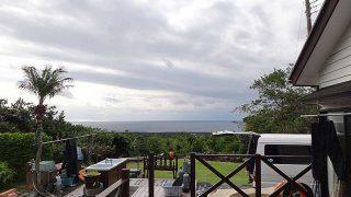 風は冷たく雲も広がってきていた11/30の八丈島