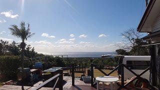 青空広がり日中は暖かくもなっていた1/26の八丈島