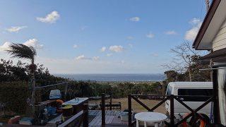 風は次第に収まるが寒さは厳しくなっていた2/21の八丈島