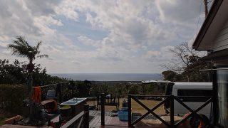 空には雲が広がり出すが静かで穏やかだった2/26の八丈島