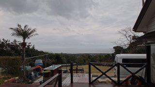 雲は広がり時折雨は降るものの晴れ間もあった3/4の八丈島