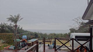 雨風強まり荒れた天気となっていた3/6の八丈島