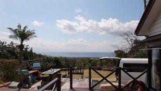 青空あるが小雨パラつく落ち着かない空模様となっていた3/12の八丈島