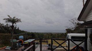 風は弱いが雨はしっかり降ってもきていた3/13の八丈島