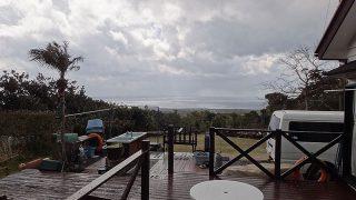 雲は次第に広がって時間と共に寒さが増してきていた3/15の八丈島