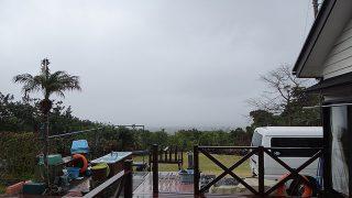 雨風強まり荒れた天気となっていた3/21の八丈島
