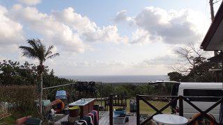 明るい曇りで時々晴れ間も見られていた3/27の八丈島