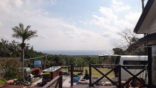 雲は次第に晴れてきて気持ちのよい青空が広がってきていた4/2の八丈島