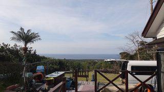 うっすら雲はあるものの引き続き青空広がっていた4/6の八丈島