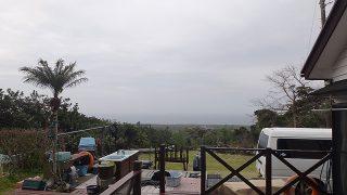 雲は広がり時折雨もパラついてきていた4/7の八丈島