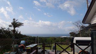 青空続くが風は涼しくもあった4/13の八丈島