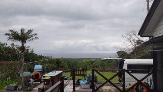 明け方雨は降るものの明るい曇りとなっていた4/21の八丈島