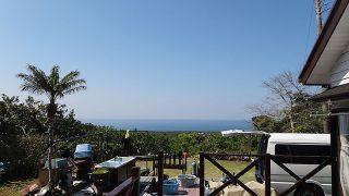 青空続き日差しも強くなっていた4/30の八丈島
