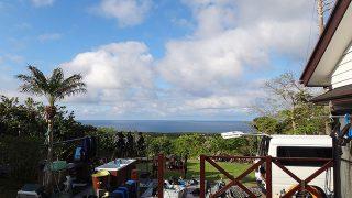 次第に雲は多くもなるが青空もあった5/6の八丈島
