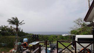 雲は多いが日差しも差し込み蒸し暑くもなっていた5/7の八丈島