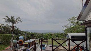 雲もだんだん厚みを増して雨風強まっていた5/13の八丈島