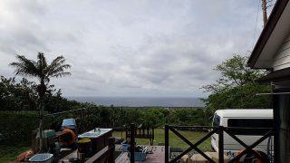 雲は多いが青空あって少し蒸し暑くもあった5/14の八丈島