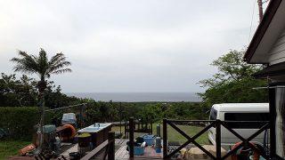 うっすら雲は広がって雲が多めな一日となっていた5/16の八丈島