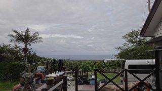 少し雲が広がる時間もあるが青空あった5/24の八丈島