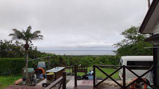 雲も広がり雨もパラつくグズついた空模様となっていた5/25の八丈島