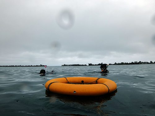 うねりはあるが水面ペッタリ凪いでいて